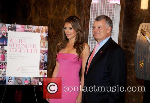 Elizabeth Hurley lights the Empire State Building