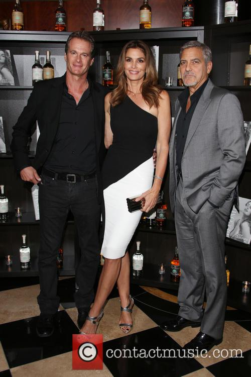 Cindy Crawford, Rande Gerber and George Clooney 2