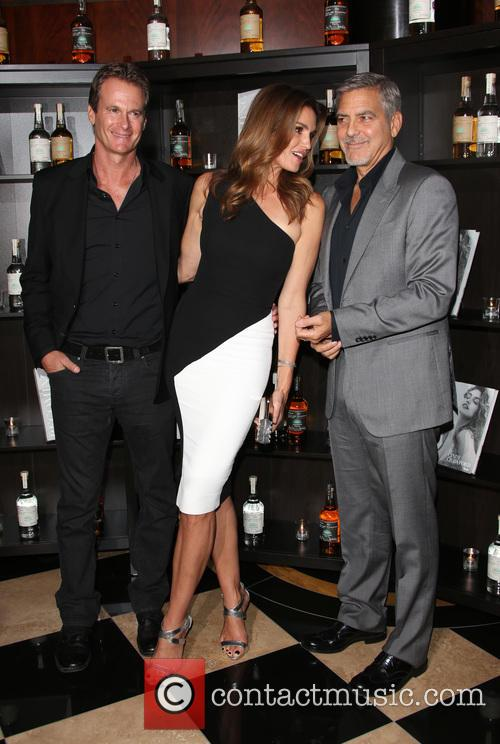 Cindy Crawford, Rande Gerber and George Clooney 1