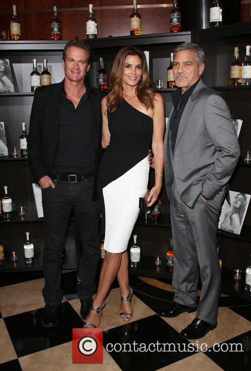 Rande Gerber, Cindy Crawford and George Clooney 2