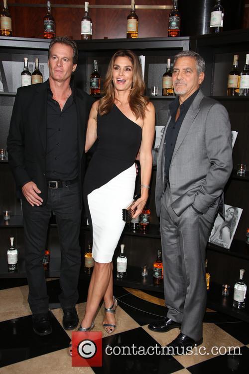 Rande Gerber, Cindy Crawford and George Clooney 3