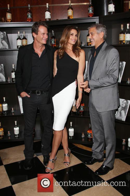 Rande Gerber, Cindy Crawford and George Clooney 1