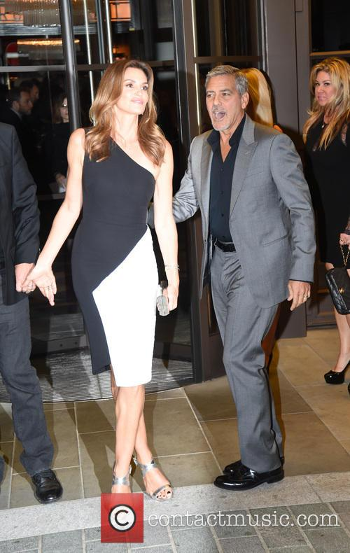 George Clooney and Cindy Crawford 11