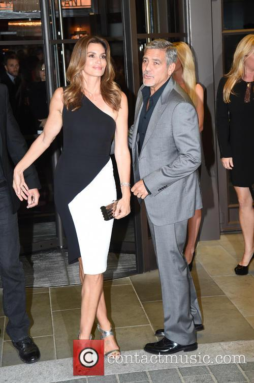 George Clooney and Cindy Crawford 1