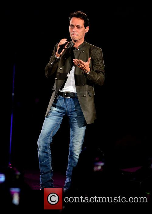 Marc Anthony performs at the American Airlines Arena