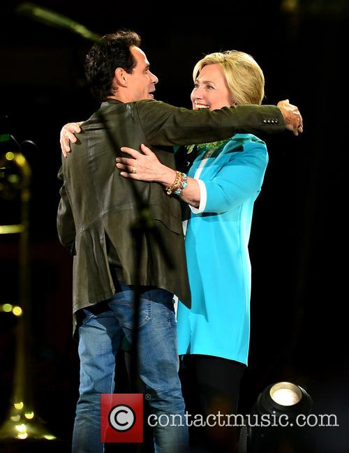 Marc Anthony and Hillary Clinton 1