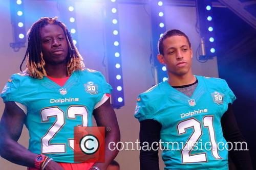Jay Ajayi and Brent Grimes 1