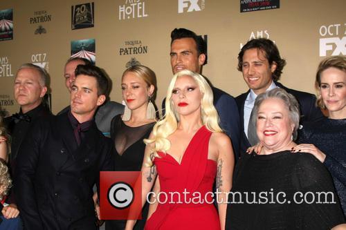 Matt Bomer, Chole Sevigny, Cheyenne Jackson, Lady Gaga, Brad Falchuk, Kathy Bates and Sarah Paulson 2