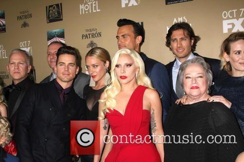 Matt Bomer, Chole Sevigny, Cheyenne Jackson, Lady Gaga, Brad Falchuk, Kathy Bates and Sarah Paulson 1