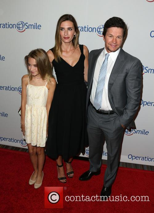 Ella Rae Wahlberg, Rhea Durham and Mark Wahlberg 2