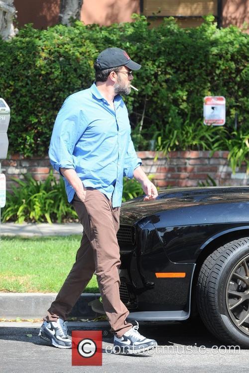 Ben Affleck and Jennifer Garner leaving a medical...