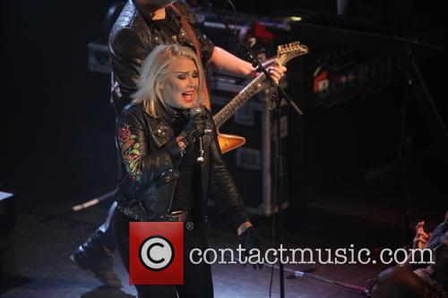 Kim Wilde performing live in concert