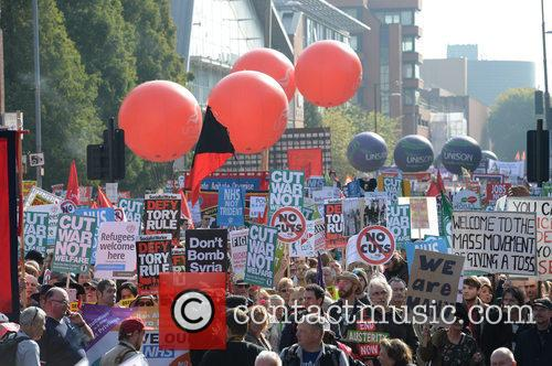 Anti-Austerity Protest Rally Manchester
