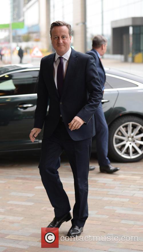 Prime Minister David Cameron In Manchester