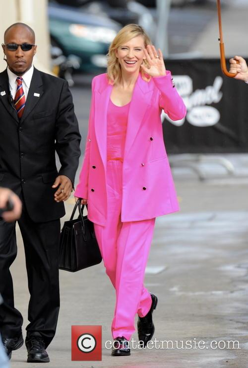 Cate Blanchett arrives at the 'Jimmy Kimmel Live!'...