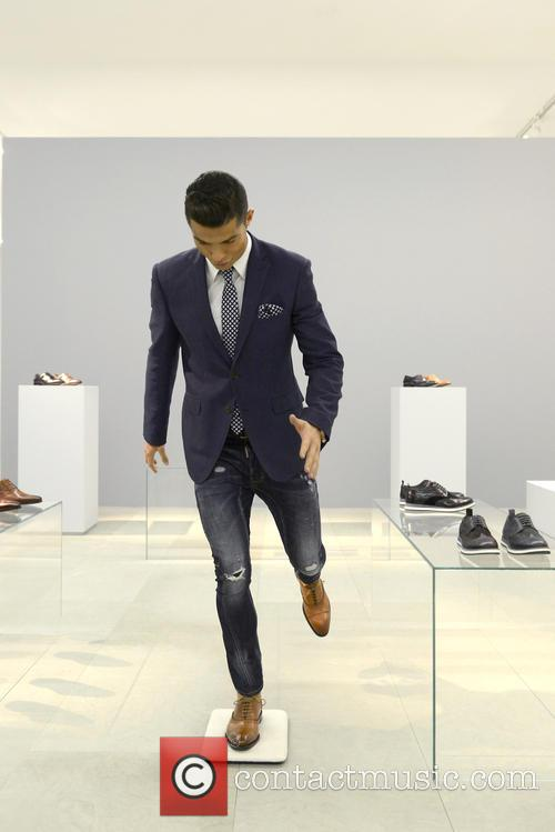 Cristiano Ronaldo takes to the catwalk and steps...