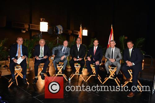Wilfredo 'willy' Gort, Commissioner Chair Cra Board Member & City Of Miami Com., Tomas P. Regalado, Mayor City Of Miami, Chris Cooney, Ceo Eue/screen Gems Studios, Pierluigi Gazzolo, President, Viacom International Media Networks, The Americas & Evp, Nickelodean International, Carlos Lopez- Cantera, Lt. Goveneor State Of Florida, Marc D. Sarnoff, Cra Board Chair & City Of Miami Com., Pieter Bockweg Executive Director and Miami Omni Cra 2