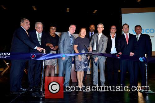 Wilfredo 'will'gort, Commissioner Chair Cra Board Member & City Of Miami Com., Tomas P. Regalado, Mayor City Of Miam, Audrey M. Edmonson Miami Dade County Commissioner, Chris Cooney, Ceo Eue/screen Gems Studios, Cyma Zarghami, Viacom, Russell Benford Deputy Mayor, Marc D. Sarnoff Cra Board Chair, Pierluigi Gazzolo President, Viacom International Media Networks, The Americas & Evp, Nickelodeon International, Cra Board Memeber & City Of Miami Com., Carlos Lopez -cantera Lt. Governor State Of Florida, Pieter Bockweg Excutive Director and Miami Omni Cra 2
