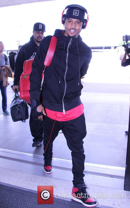 Trey Songz arrives at Los Angeles International (LAX)...