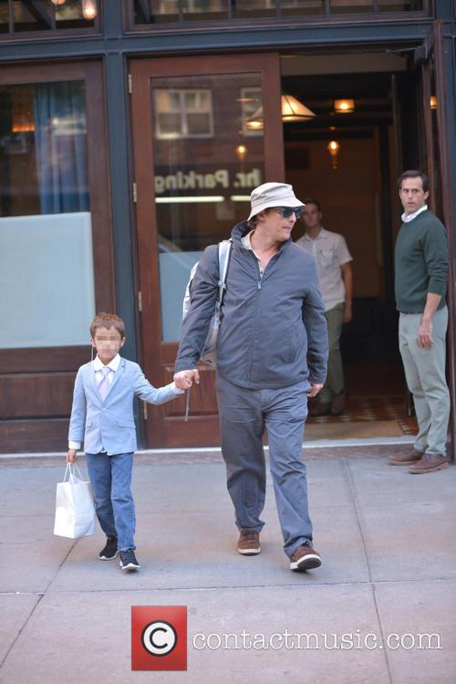 Matthew McConaughey spotted out in TriBeCa with his...