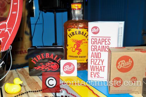 Whisky company's 'Fireball' promotional material