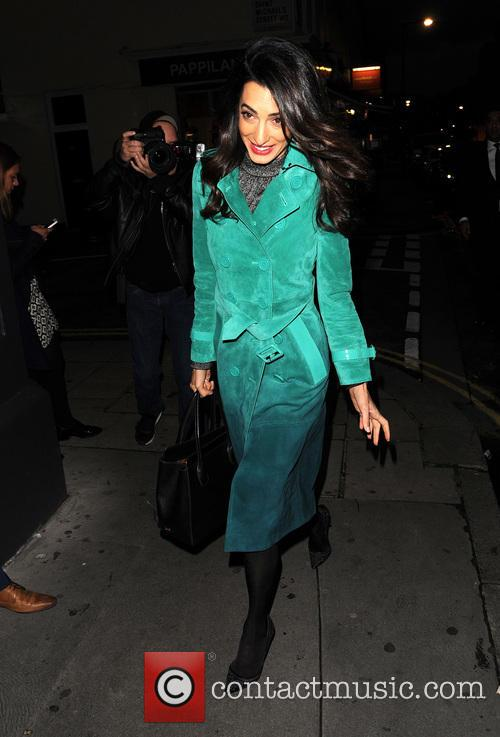Amal Clooney arrives at The Frontline Club