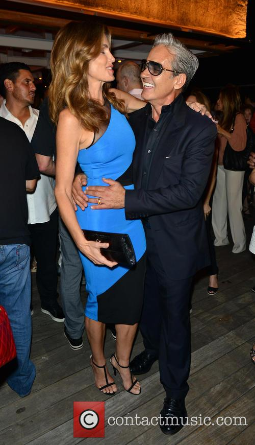 Cindy Crawford and Oribe Canales 1