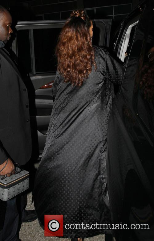 Rihanna and Tallulah Belle Willis leaving the MaMa...