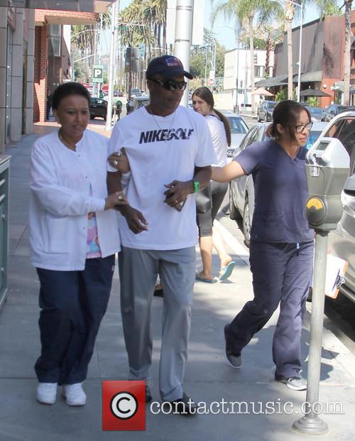 Sugar Ray Leonard out in Beverly Hills