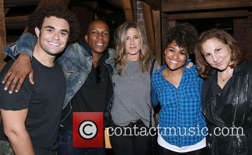 Andrew Chappelle, Leslie Odom Jr., Jennifer Aniston, Ariana Debose and Kathy Najimy 2