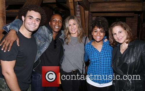 Andrew Chappelle, Leslie Odom Jr., Jennifer Aniston, Ariana Debose and Kathy Najimy 1