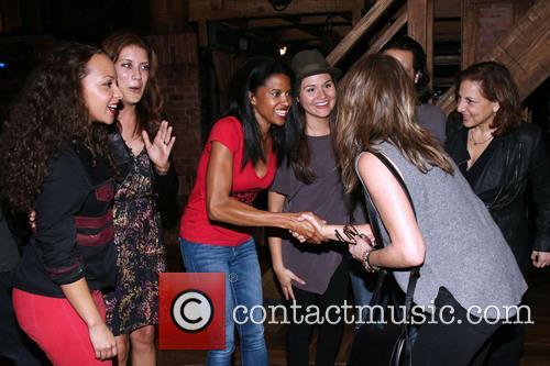 Jasmine Cephas Jones, Kate Walsh, Renee Elise Goldsberry, Phillipa Soo, Jennifer Aniston and Kathy Najimy 1