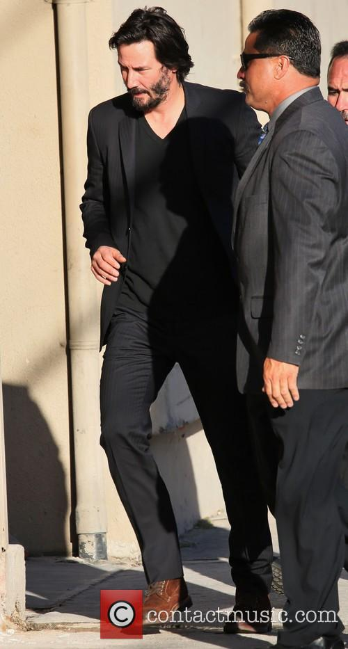 Keanu Reeves at the 'Jimmy Kimmel Live!' studios