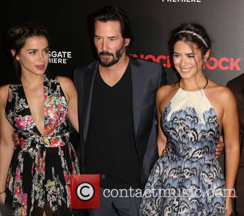 Ana De Armas, Keanu Reeves and Lorenza Izzo 1