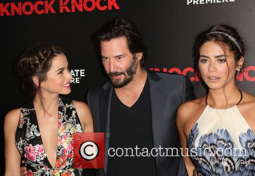 Ana De Armas, Keanu Reeves and Lorenza Izzo 2