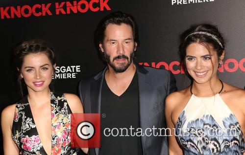 Ana De Armas, Keanu Reeves and Lorenza Izzo 10
