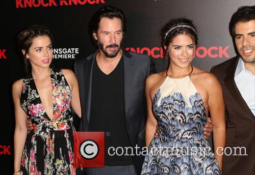 Ana De Armas, Keanu Reeves, Lorenza Izzo and Eli Roth 1