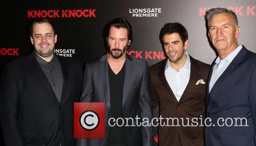 Guest, Keanu Reeves and Eli Roth 1