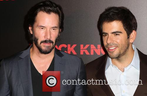 Keanu Reeves and Eli Roth 1