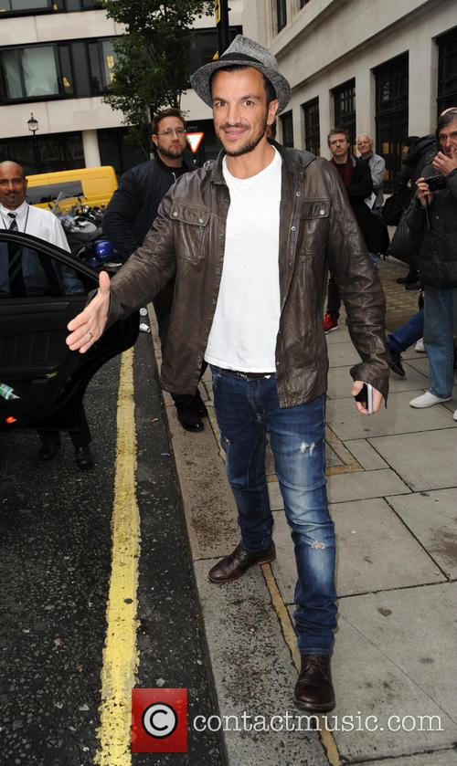 Peter Andre at Kiss FM Studios
