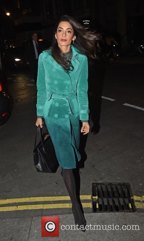 Amal Clooney arrives at Roka restaurant