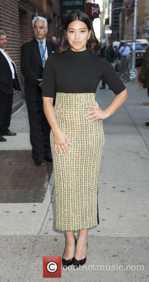 Gina Rodriguez at 'The Late Show with Stephen...