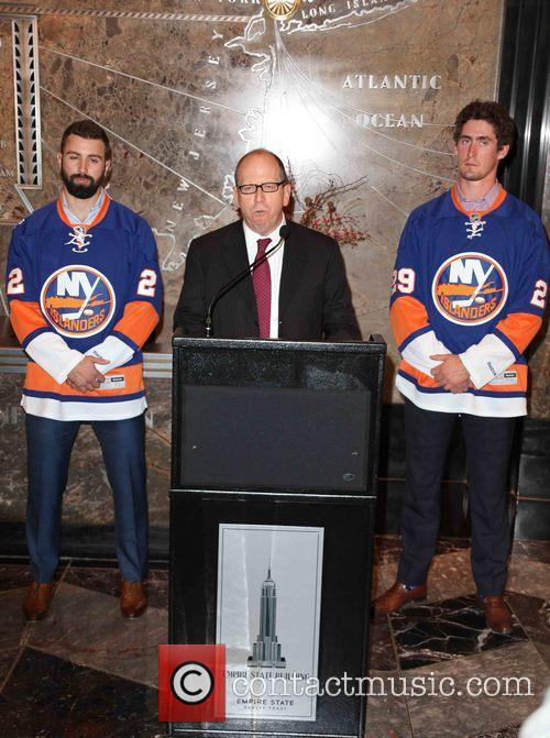 Nick Leddy, Jon Ledecky and Brock Nelson 2