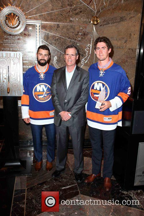 Nick Leddy, John B. Kessler and Brock Nelson 1