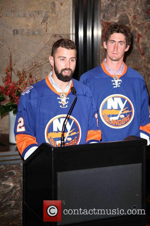 Nick Leddy and Brock Nelson 3