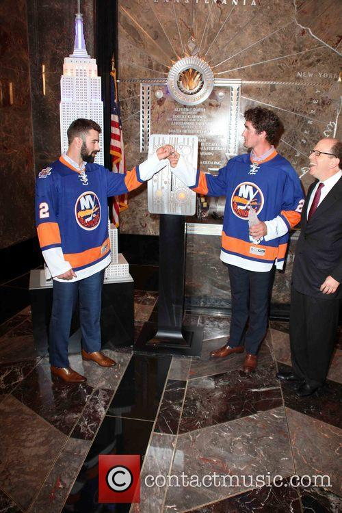 Nick Leddy, Brock Nelson and Jon Ledecky 2