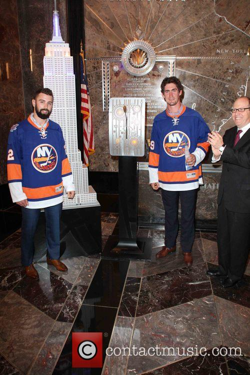 Nick Leddy, Brock Nelson and Jon Ledecky 3