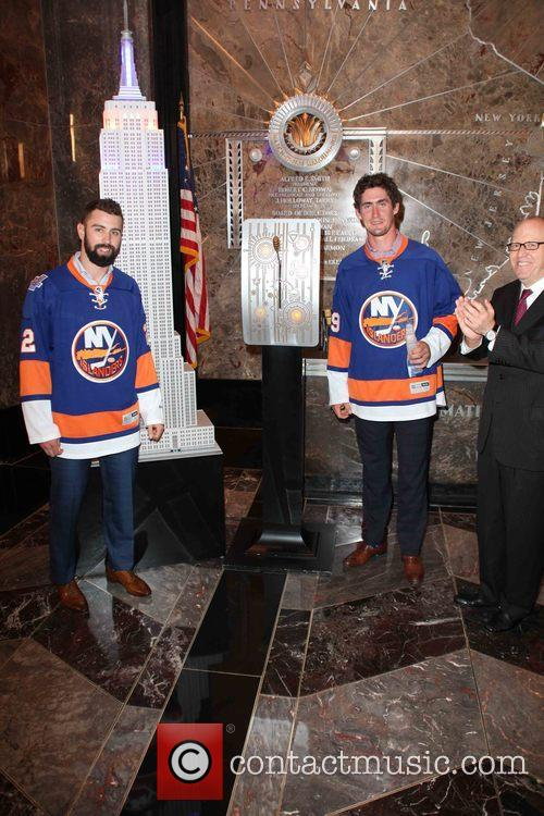 Nick Leddy, Brock Nelson and Jon Ledecky 4