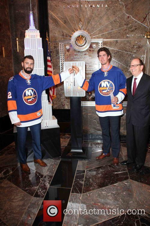 Nick Leddy, Brock Nelson and Jon Ledecky 5
