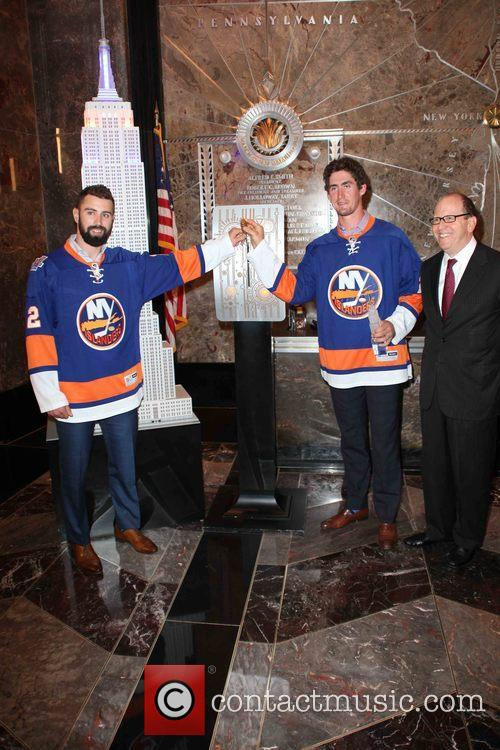 Nick Leddy, Brock Nelson and Jon Ledecky 6